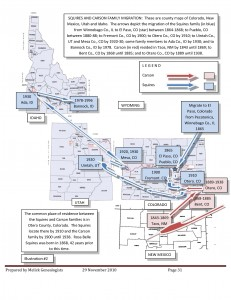 Genealogy Migration Map